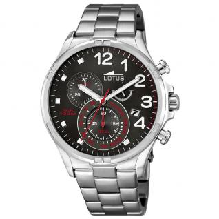 LOTUS SKYFALL II Chronograph Uhr Herrenuhr Edelstahl Datum grau