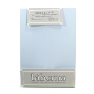 Biberna 77866 Jersey Elastic Spannbetttuch Hellblau 180x200 200x220