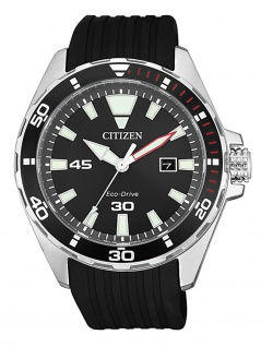 Citizen BM7459-10E Uhr Herrenuhr Kautschuk Datum Schwarz