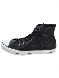 Converse Herren Schuhe CT All Star Hi Schwarz Glattleder Sneakers 44.5