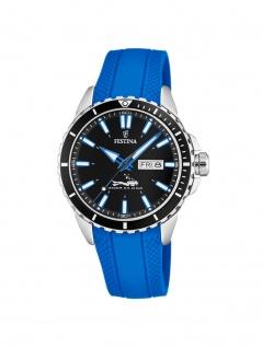 FESTINA F20378/3 Uhr Herrenuhr Kautschuk Datum Blau