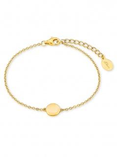 s.Oliver 2020067 Damen Armband Sterling-Silber 925 Gold 19 cm