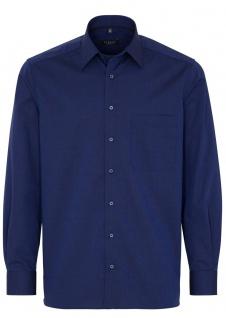 Eterna Herren Hemd Langarm Comfort Fit 3070/19/E18E Blau XL/43