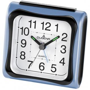 DUGENA 4460617 Wecker Kunststoff Analog Licht Alarm blau