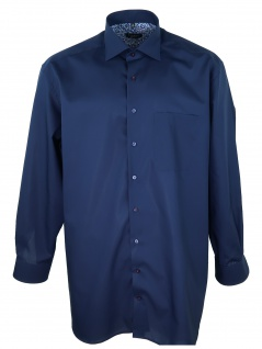 Eterna Herren Hemd Langarm Comfort Fit XXXL/47 Blau 1300/19/E83K
