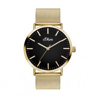 s.Oliver SO-3326-MQ Uhr Damenuhr Edelstahl Gold