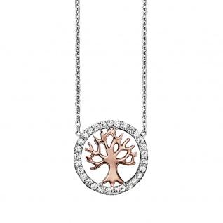 Julie Julsen® JJNE2780.8 Damen Kette Baum Bicolor Rose Weiß 42, 5 cm