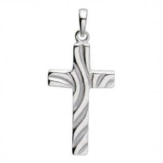 Basic Silber 27.9172S Damen Anhänger Kreuz Silber
