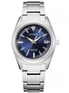 Citizen FE6150-85L Eco Drive Uhr Damenuhr Titan Datum silber