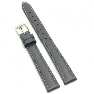 Condor Uhrenband 13860-12-70 Ersatzarmband 12 mm Kalbnappa grau