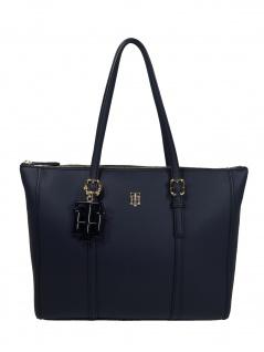 Tommy Hilfiger Damen Handtasche Tasche TH Chic Tote Blau AW0AW07986