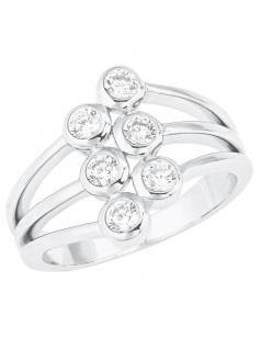 s.Oliver 2024235 Damen Ring Sterling-Silber 925 Silber Weiß 54 (17.2)