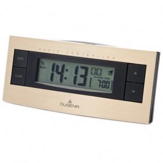 DUGENA 4460460 Wecker Funkwecker Digital Licht Alarm schwarz gold