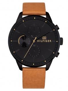 Tommy Hilfiger 1791486 CHASE Uhr Herrenuhr Lederarmband Datum Braun