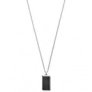Emporio Armani EGS2228001 Herren Collier Edelstahl Silber Grau 52, 5 cm