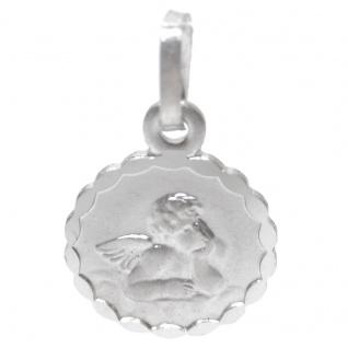 Basic Silber STG02 Kinder Anhänger Schutzengel Silber