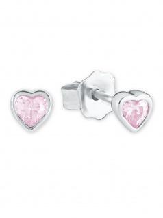Prinzessin Lillifee 2021046 Mädchen Ohrstecker Herz Silber Rosa