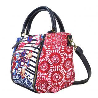 Desigual Sevilla Kimera Blau Rot Weiß Handtasche Tasche Henkeltasche - Vorschau 2