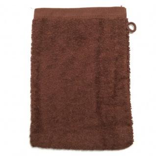 Waschhandschuh Schokobraun Frottee 500g/m2 Waschlappen 15 x 21 cm