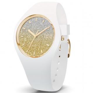 Ice-Watch 013432 Ice-Lo White gold medium Uhr Damenuhr Silikon Weiß