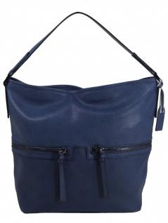 Esprit Damen Handtasche Tasche Henkeltasche Ivy Hobo Blau