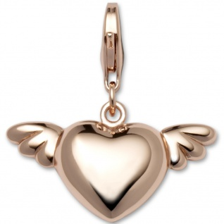 GOOIX GXC419 Damen Charms Herz Silber rosé