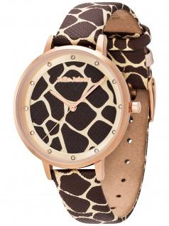 Julie Julsen JJW1203RGL-G Safari Collection Giraffe Uhr Damenuhr Leder