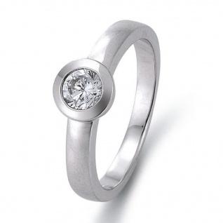 gooix 943-03137-58 Damen Ring Silber Weiß 58 (18.5)
