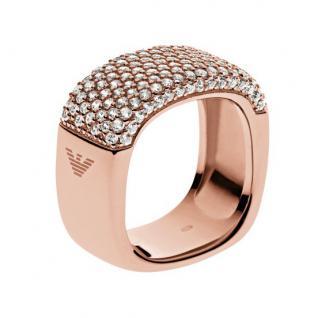 Emporio Armani Damen Ring STELLE Silber rosé Zirkonia 53 (16.9)