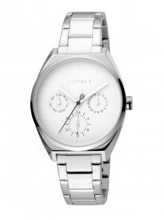 Esprit ES1L060M0055 Slice Multi Uhr Damenuhr Edelstahl Datum Silber