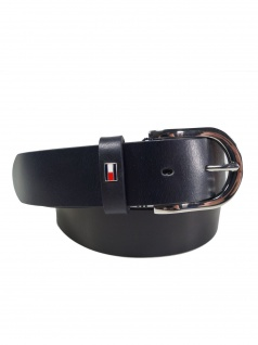 Tommy Hilfiger Damen Gürtel Jeansgürtel New Danny Belt Leder 80cm Blau