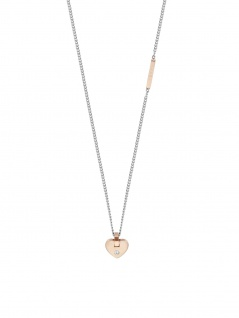 Esprit ESNL00552442 Damen Collier Herz Cheer Bicolor Rose Weiß 45 cm