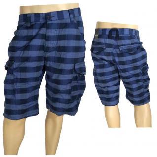 Authentic Style Herren Bermuda Hose Shorts Blau kariert Gr. 32 - Vorschau 1