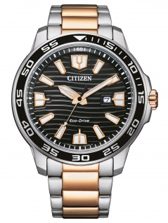 Citizen AW1524-84E Eco Drive Uhr Herrenuhr Edelstahl Datum bicolor