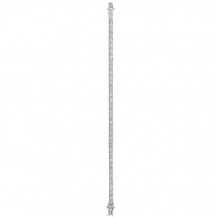 Basic Silber 42.EG115 Damen Armband Silber Weiß 19 cm