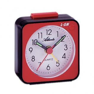 Atlanta 1230-1 Wecker Analog Licht Alarm weiss rot schwarz