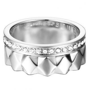 Esprit ESSE11041A Damen Ring jw52891 Edelstahl Glas 56 (17.8)