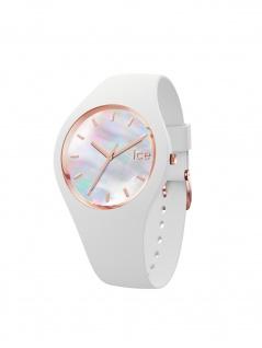 Ice-Watch 016935 ICE pearl white small Uhr Damenuhr Kautschuk Weiß