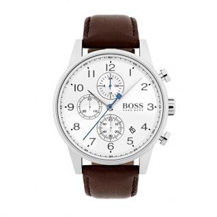 Hugo Boss 1513495 Navigator Uhr Herrenuhr Lederarmband Braun