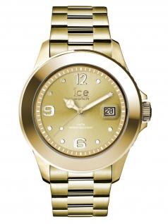 Ice-Watch 016916 Ice Steel Gold Uhr Damenuhr Edelstahl Datum Gold