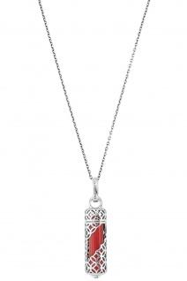 Engelsrufer ERN-HEAL-RJ-M Damen Collier Powerful Stone M Rot 60 cm