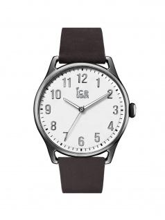 Ice-Watch 013044 Ice time Dark brown White Large Uhr Leder Braun