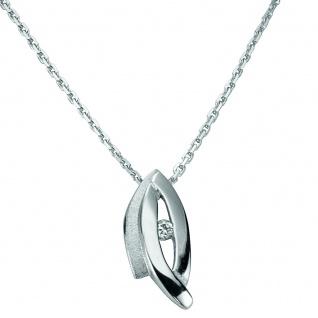 Basic Silber 21.EX575 Damen Collier Silber Zirkonia weiß 42 cm