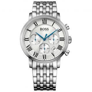 Hugo Boss Elevated Classic Chronograph Uhr Herrenuhr Edelstahl silber