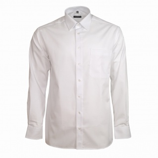Eterna Herrenhemd Langarm Comfort Fit Weiß XXXXL/50 Hemd 1100/00/E198