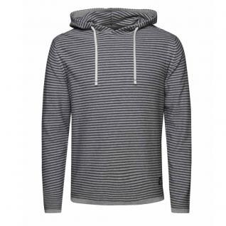 Jack & Jones Herren Pullover Kapuze SCOTT Knit Hood Grau Gr. S