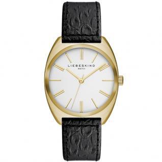 LIEBESKIND LT-0015-LQ Uhr Damenuhr Lederarmband schwarz