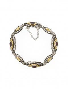 Gerry Eder 41.0200 Damen Armband Sterling-Silber 925 Silber Rot 23 cm