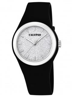 Calypso K5754/6 Uhr Damenuhr Kunststoff schwarz