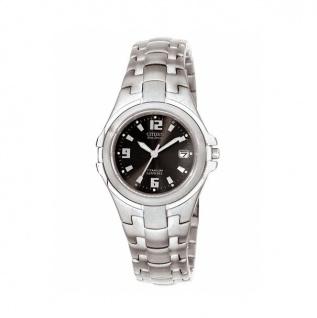 Citizen EW0650-51F Uhr Damenuhr Titan Datum anthrazit Eco Drive